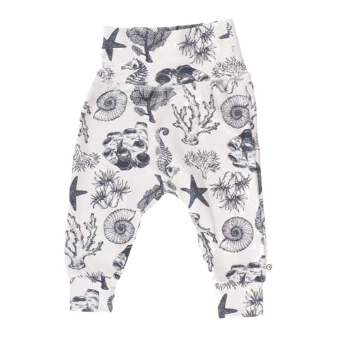 Pantaloni lungi cu imprimeu acvatic