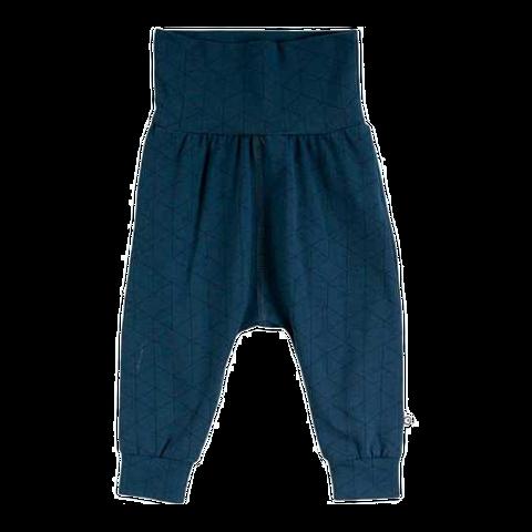 Pantaloni bleumarin cu imprimeu geometric