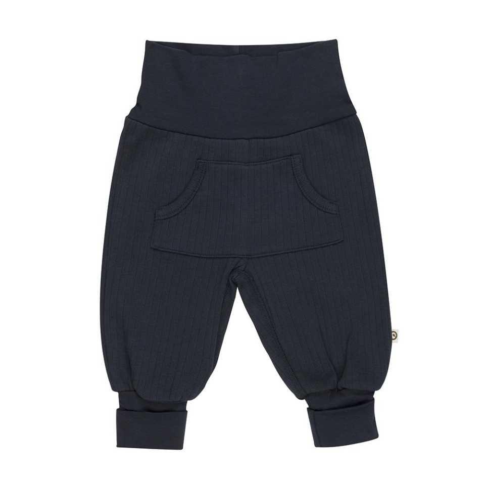 Pantaloni Cozy bleumarin cu buzunar central