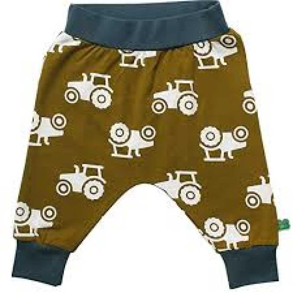 Pantaloni kaki cu imprimeu și talie contrastantă