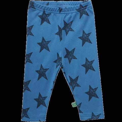 Colanți bleumarin cu imprimeu steluțe