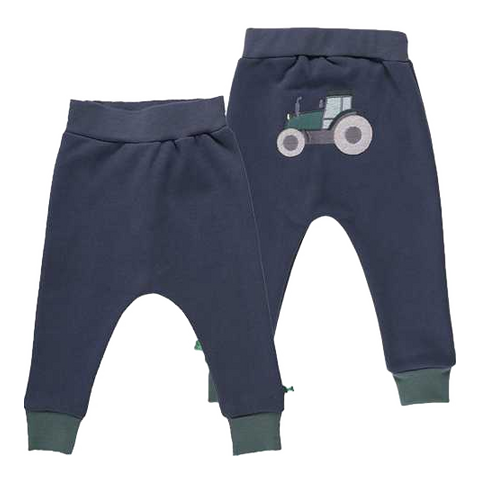 Pantaloni din bumbac gros cu imprimeu cusut la spate