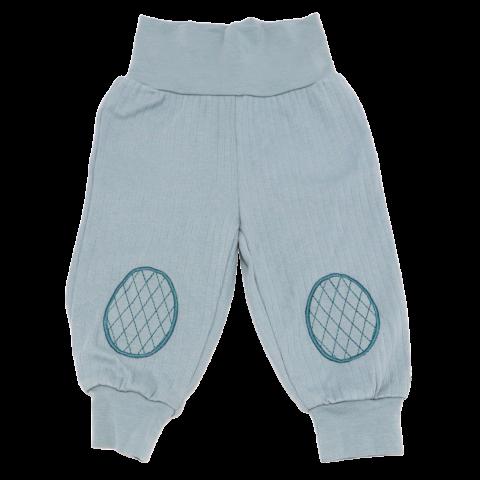 Pantaloni Cozy bleu prăfuit