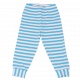 Pantaloni de pijama în dungi alb bleu