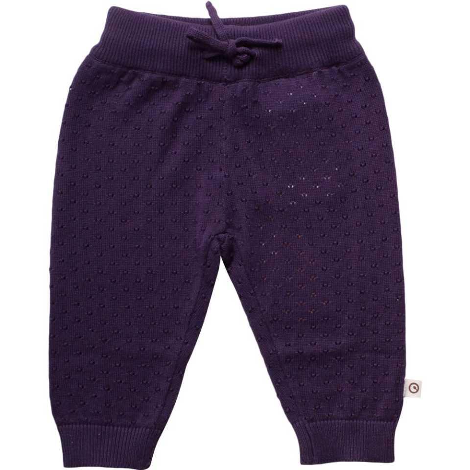 Pantaloni tricotați mov levănțică