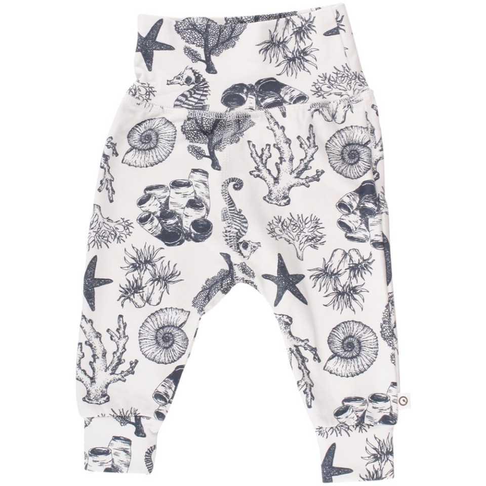 Pantaloni cu imprimeu acvatic