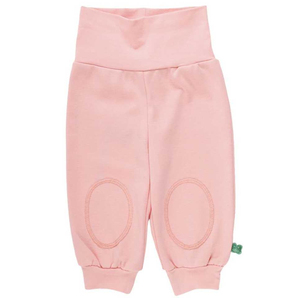 Pantaloni piersică cu genunchi întăriți