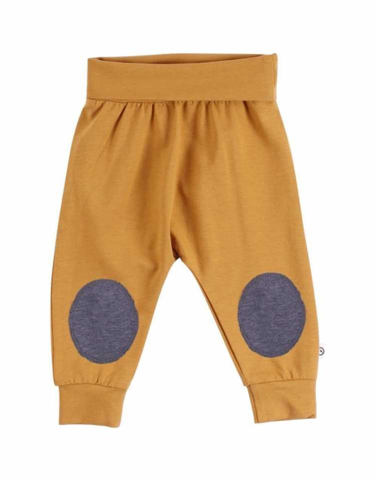 Pantaloni Cozy Me maro cu genunchi întăriți