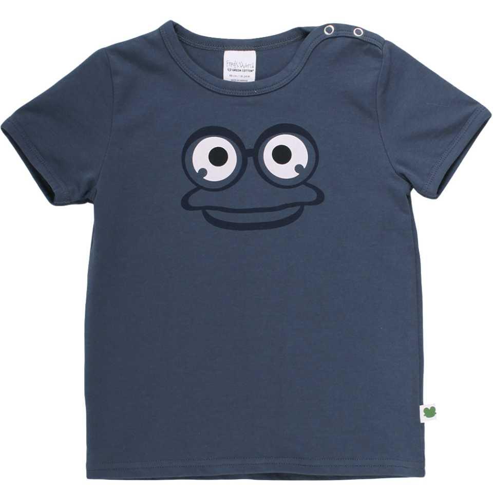 Tricou bleumarin cu imprimeu broscuță