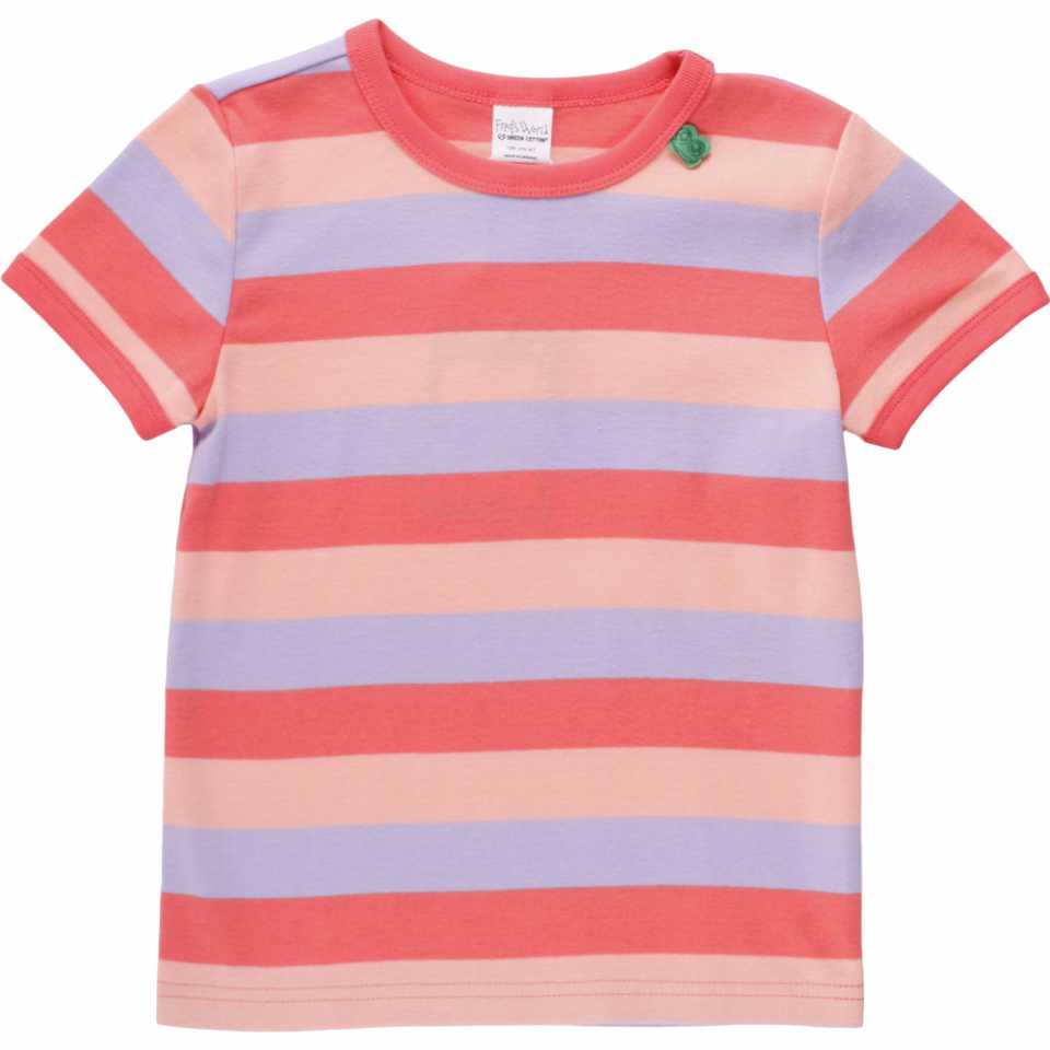 Tricou în dungi roz și lila