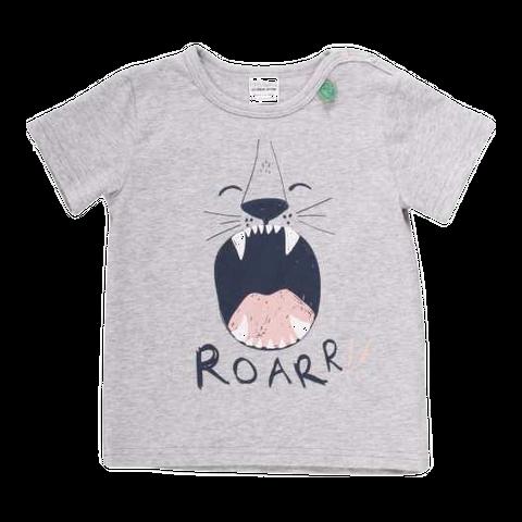 Tricou gri pentru băieți din bumbac organic
