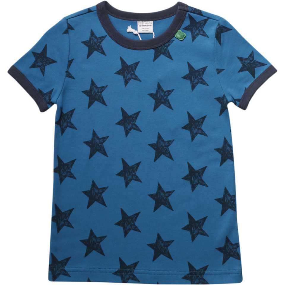 Tricou albastru cu imprimeu steluțe