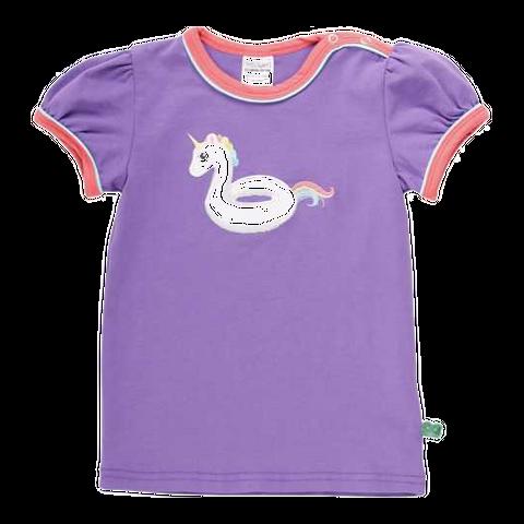 Tricou mov cu imprimeu unicorn