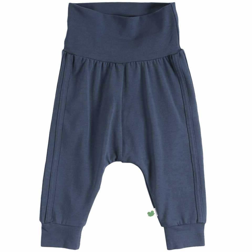 Pantaloni Alfa bleumarin cu dungi cusute pe laterale