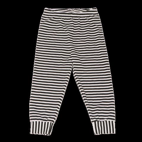 Pantaloni pijama în dungi alb negru