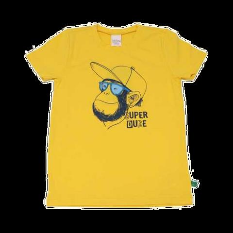 Tricou galben cu imprimeu maimuță