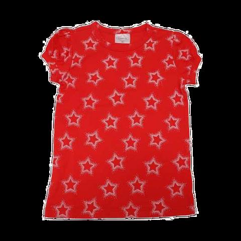Tricou roșu cu imprimeu steluțe