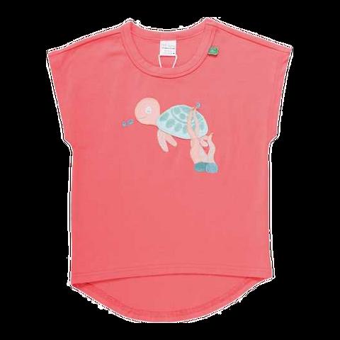 Tricou corai cu țestoasă cusută