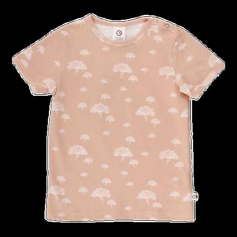 Tricou roz pastel cu capse și imprimeu floral