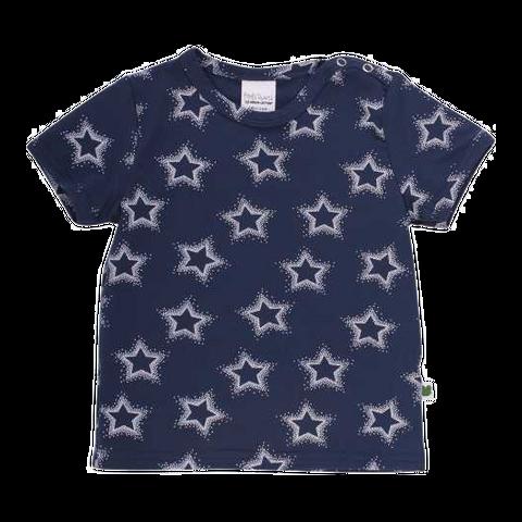 Tricou bleumarin cu imprimeu steluțe