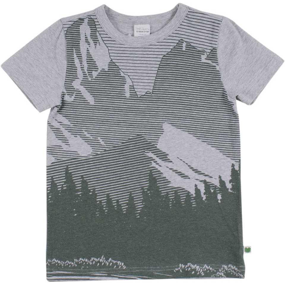 Tricou gri cu imprimeu grafic pentru băieți