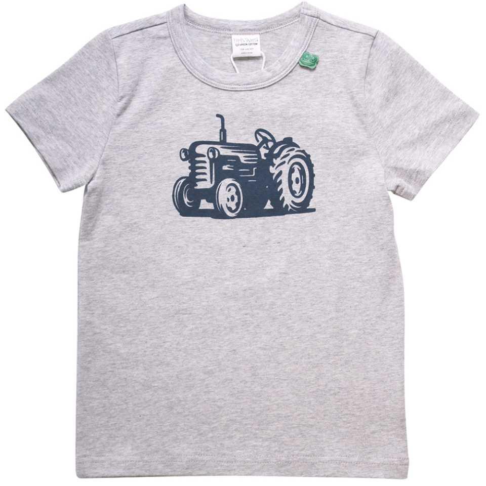 Tricou gri pentru băieți cu mânecă scurtă