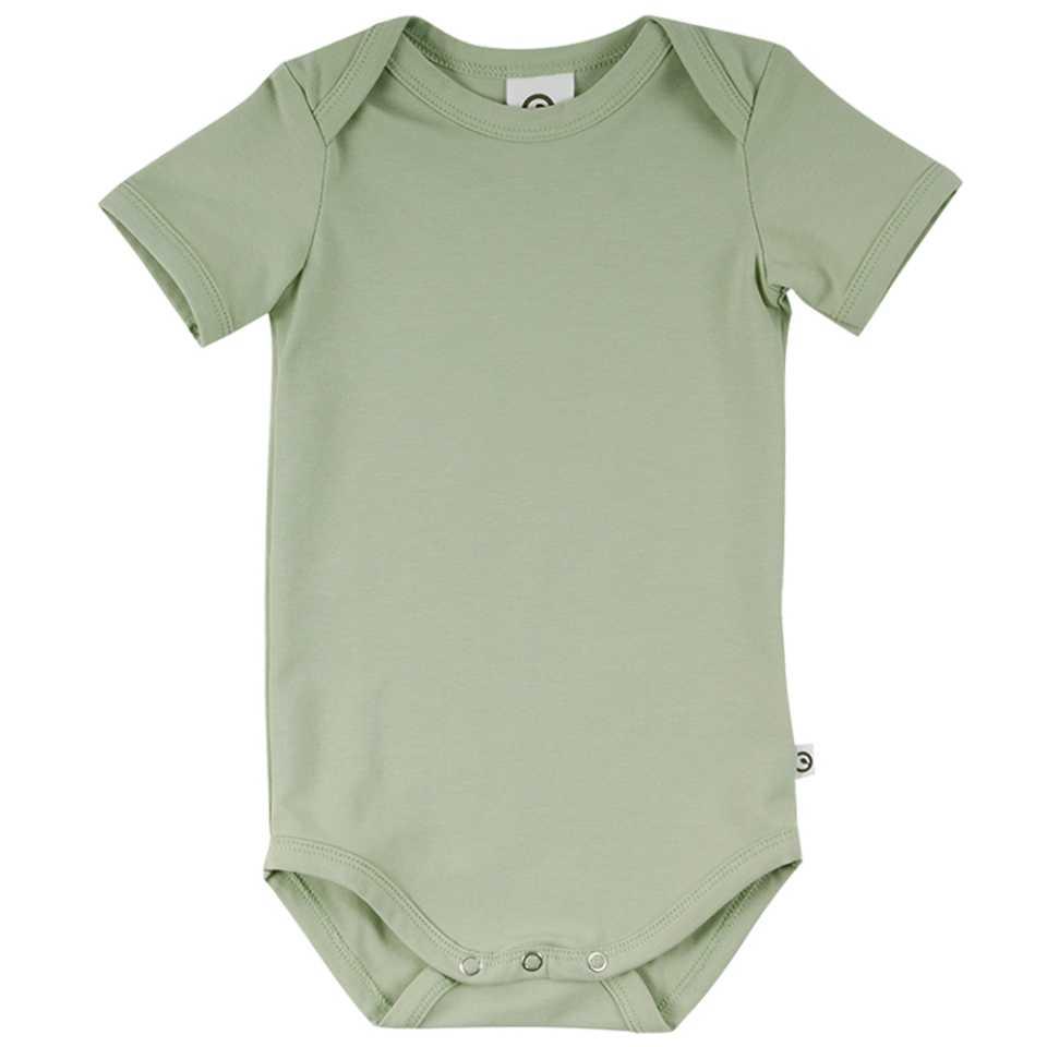 Body verde mentă cu mânecă scurtă