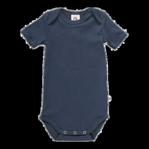 Body bleumarin cu mânecă scurtă