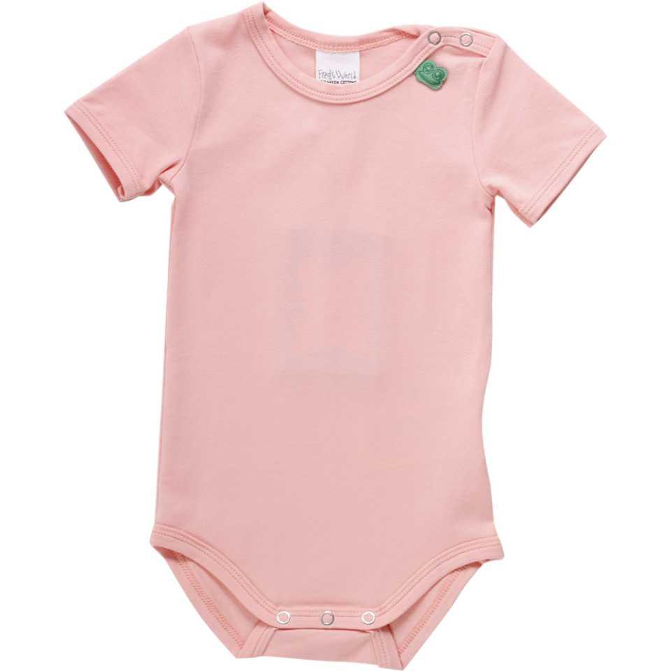 Body roz pentru fetițe cu mânecă scurtă