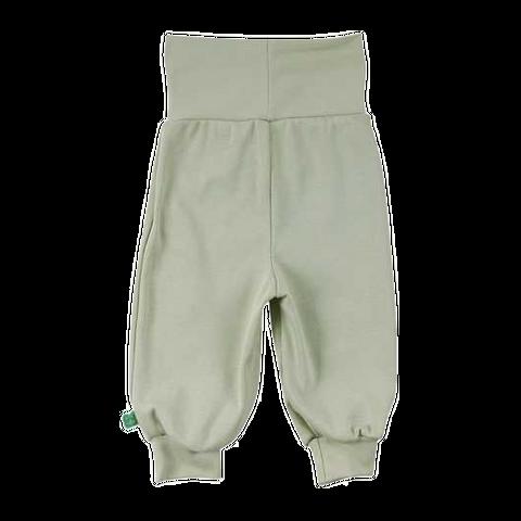 Pantaloni verde mentă cu croială lejeră