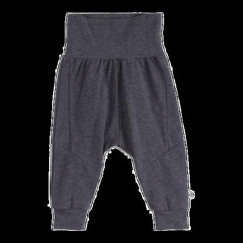 Pantaloni gri antracit cu croială lejeră