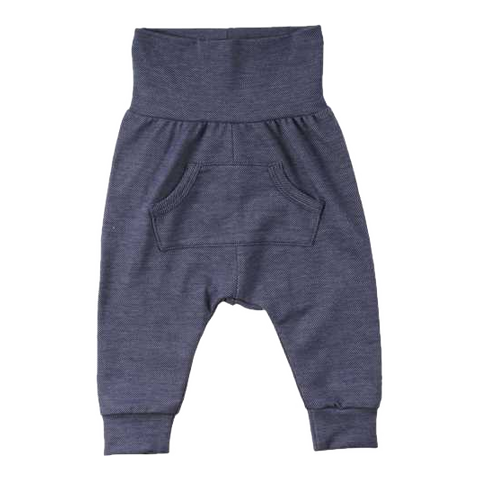Pantaloni confortabili cu aspect denim