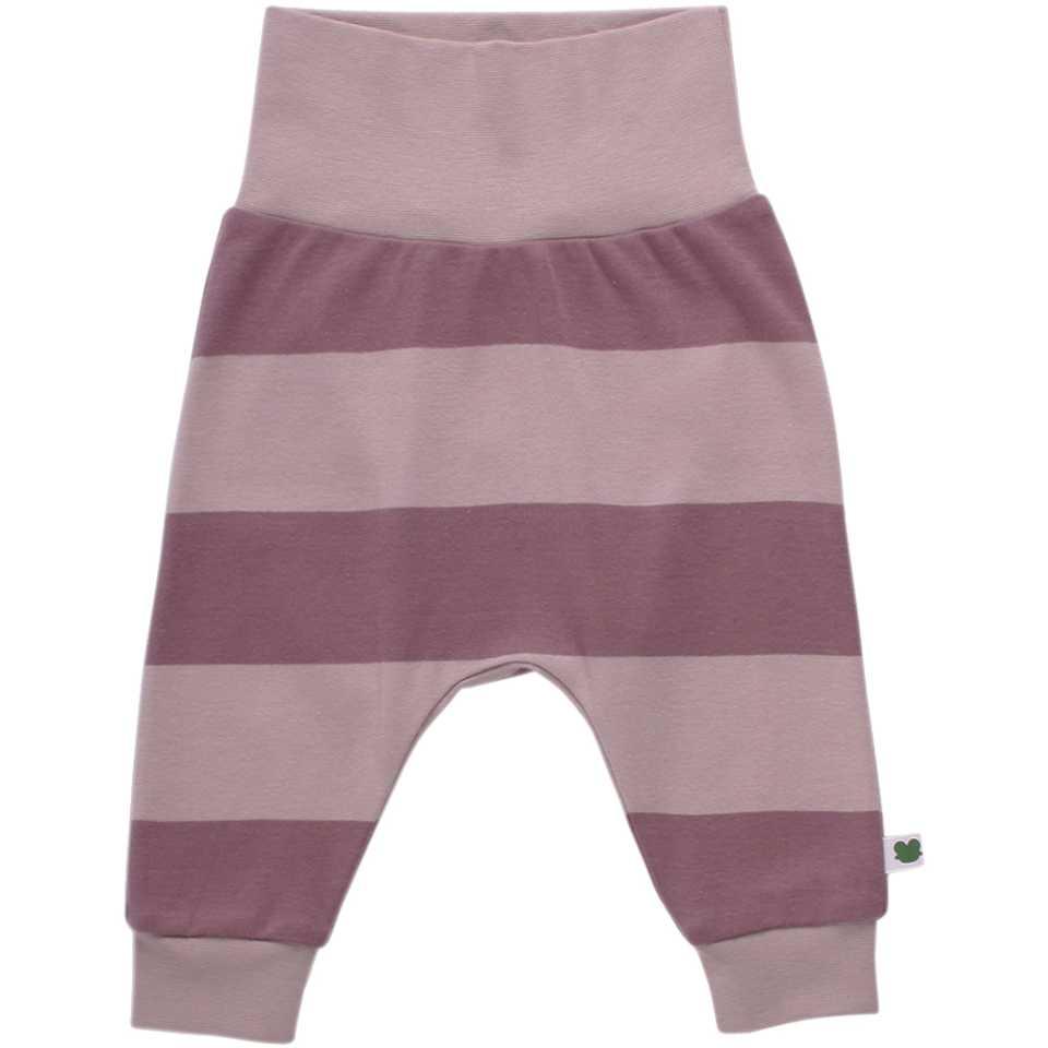 Pantaloni cu dungi lila