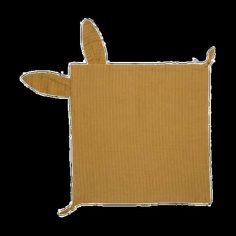 Batistuță maro din muselină cu urechi de iepuraș