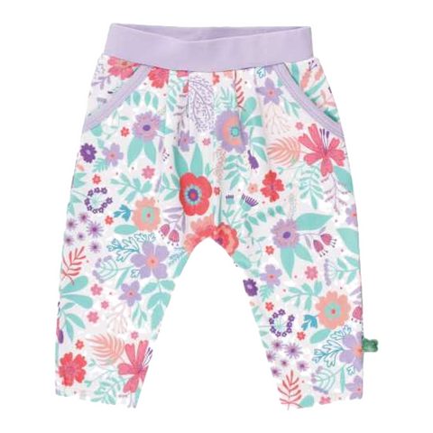Pantaloni înflorați cu buzunare