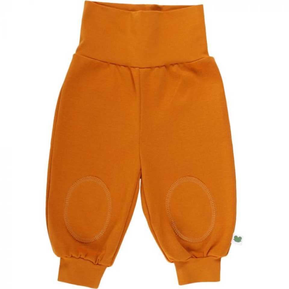 Pantaloni Alfa portocalii cu genunchi întăriți
