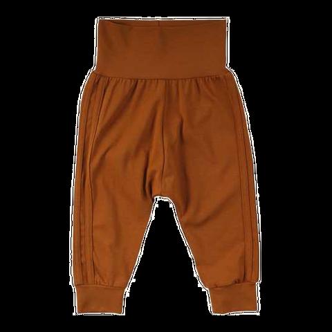 Pantaloni Alfa maro cu dungi cusute lateral