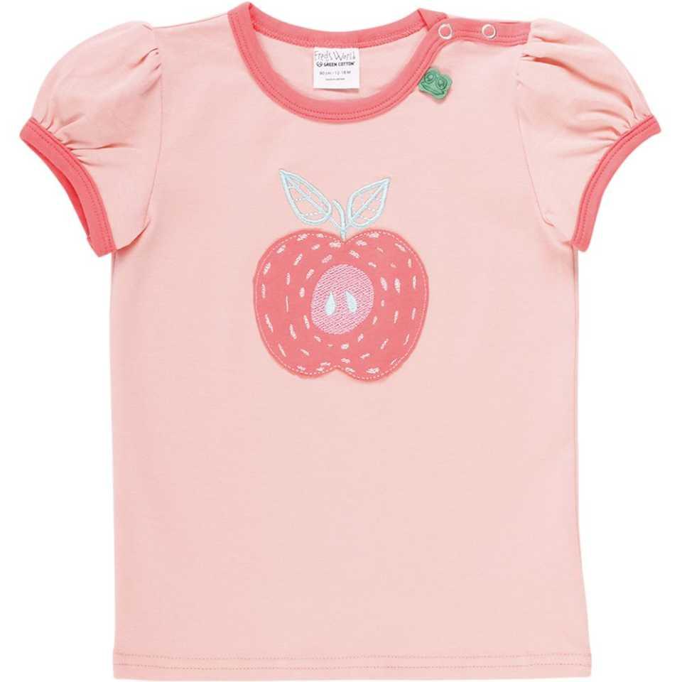 Tricou roz cu imprimeu cusut
