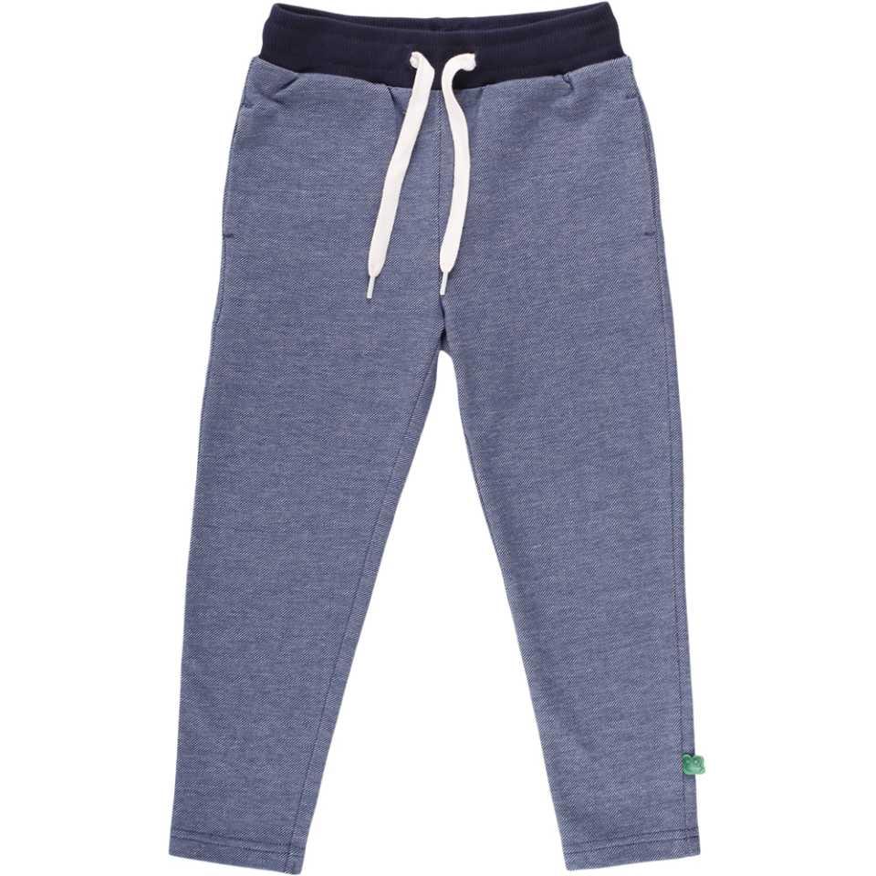 Pantaloni cu aspect denim și șnur în talie