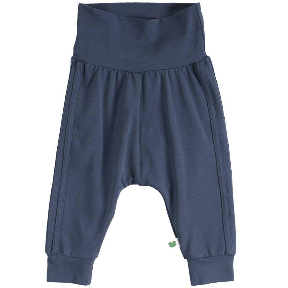Pantaloni Alfa Midnight cu dungi cusute lateral