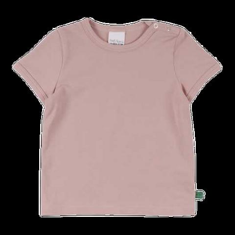 Tricou roz prăfuit cu mânecă scurtă