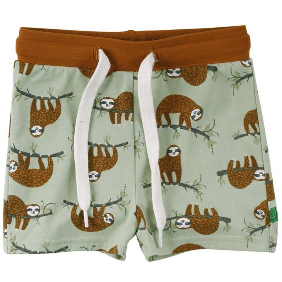 Pantaloni scurți cu imprimeu cu leneși