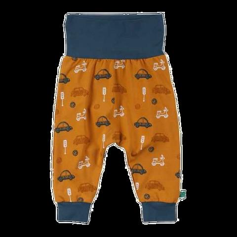 Pantaloni cu imprimeu și talie contrastantă