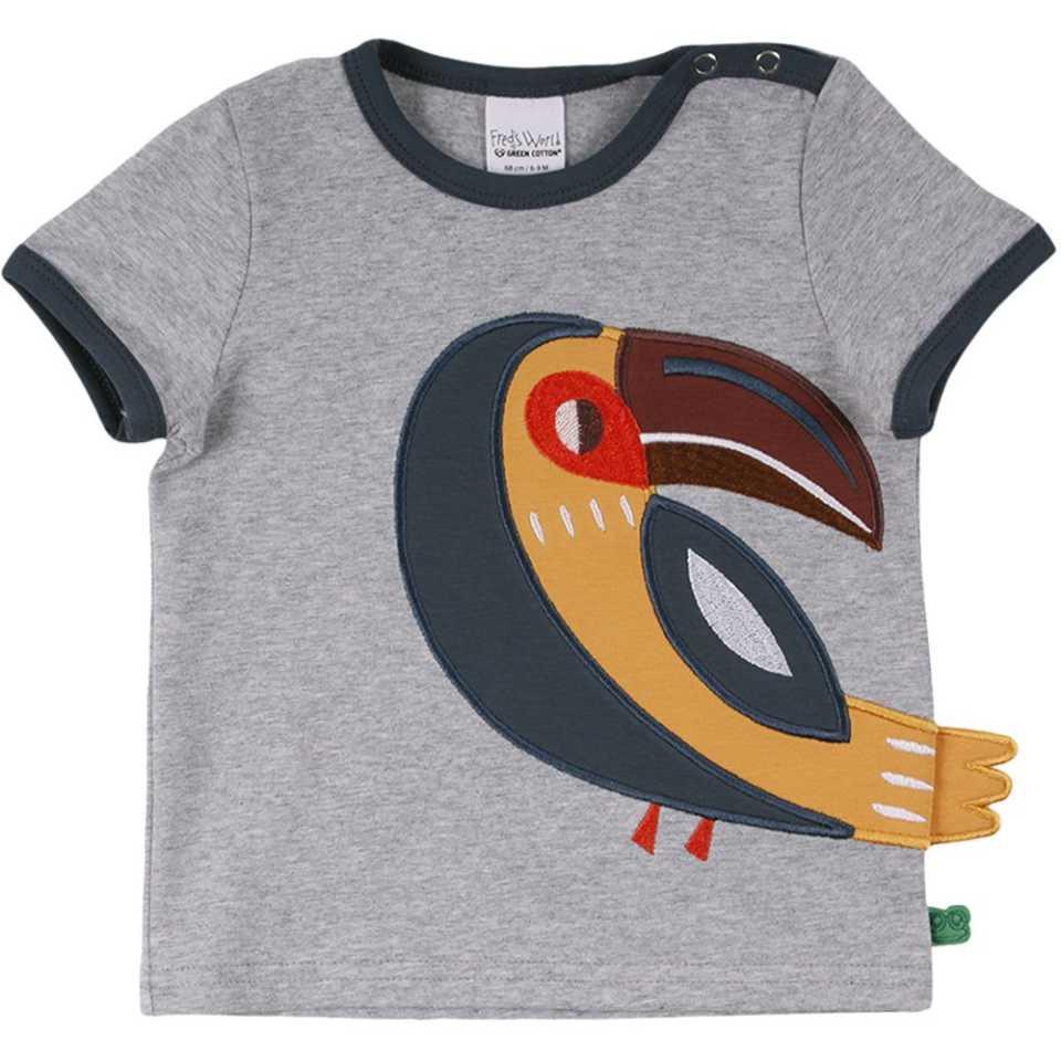 Tricou cu imprimeu cusut cu papagal Tucan