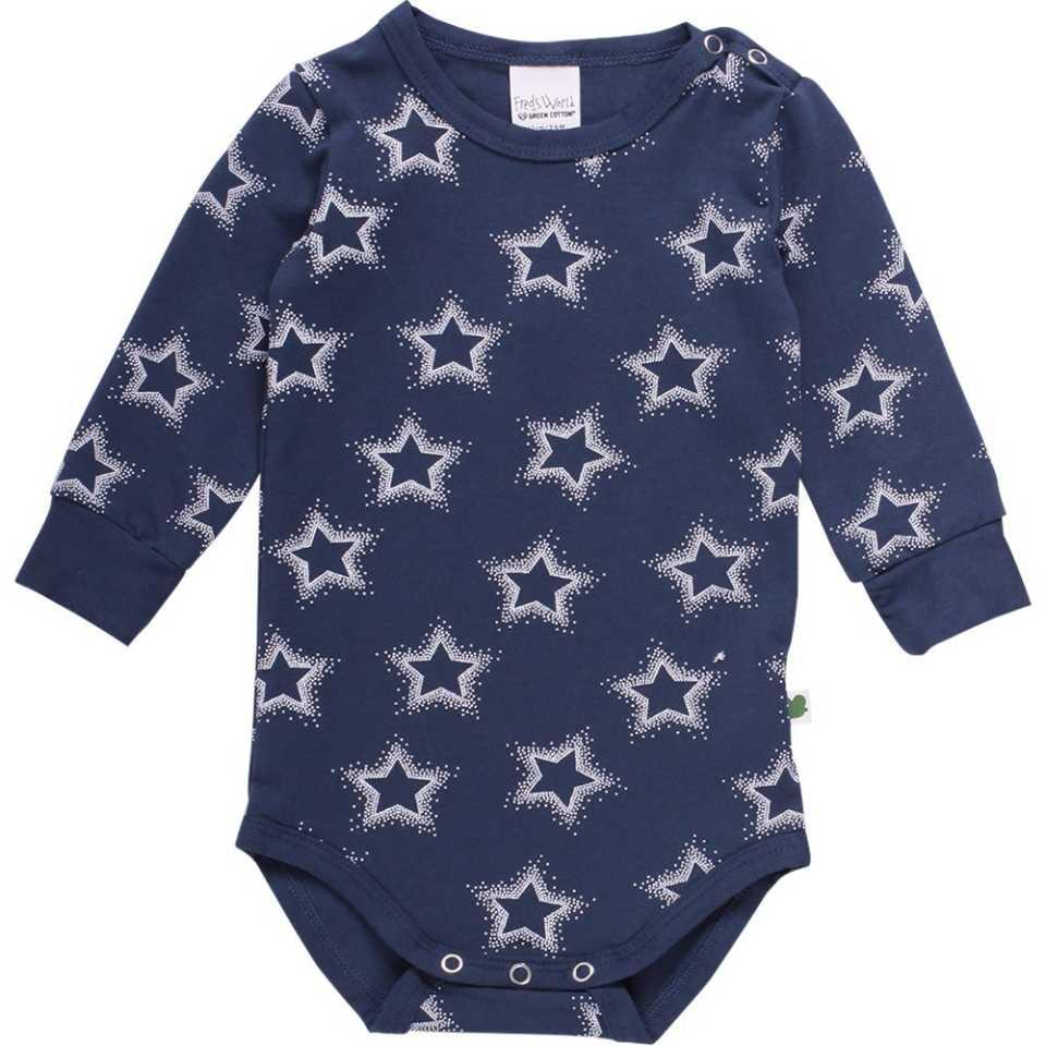 Body bleumarin cu mânecă lungă și steluțe