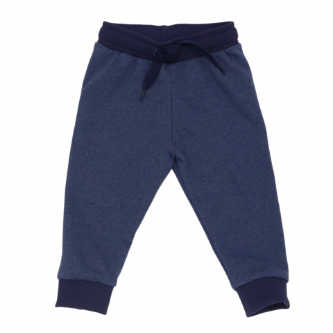Pantaloni de trening bleumarin cu manșete