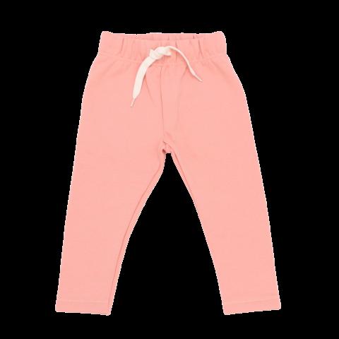 Pantaloni de trening piersică din bumbac cu polar la interior
