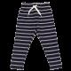 Pantaloni bleumarin lungi cu dungi albe