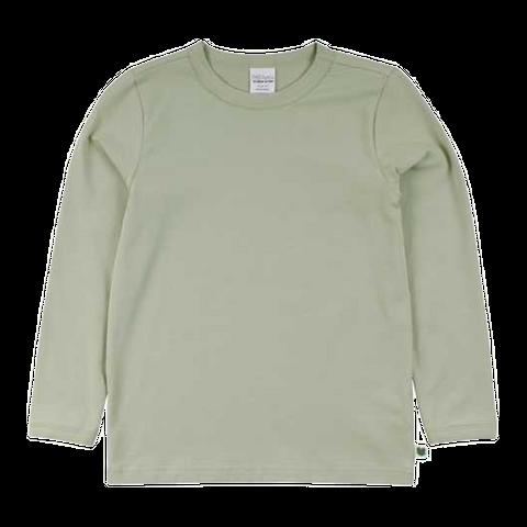 Bluză verde prăfuit cu mânecă lungă
