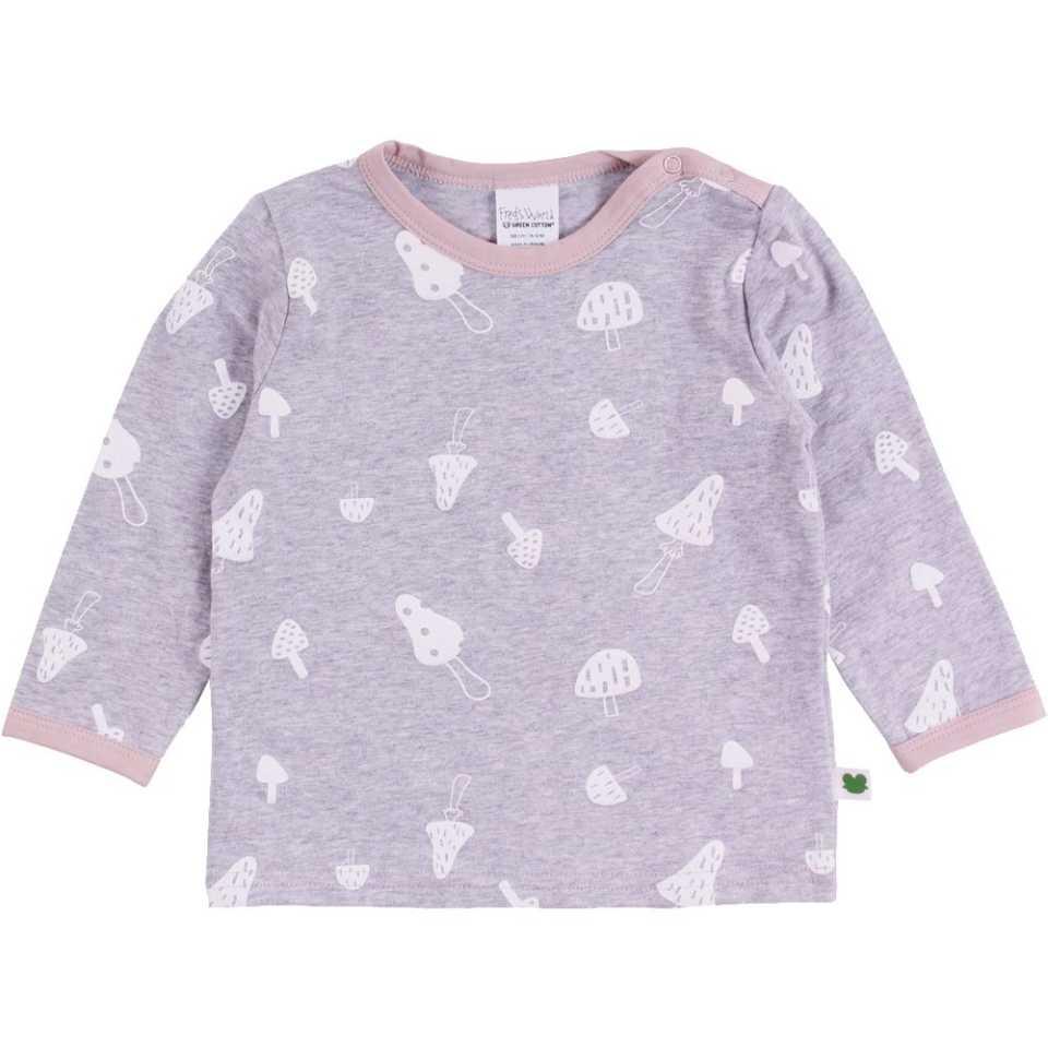 Bluză gri cu imprimeu ciupercuțe